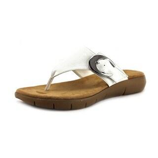 A2 By Aerosoles Wipline Women  Open Toe Synthetic White Thong Sandal