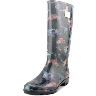 Nicole Miller New York Rena Women Round Toe Synthetic Black Rain Boot