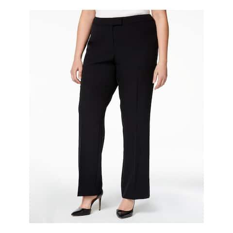 ANNE KLEIN Womens Black Straight leg Wear To Work Pants Size 20W