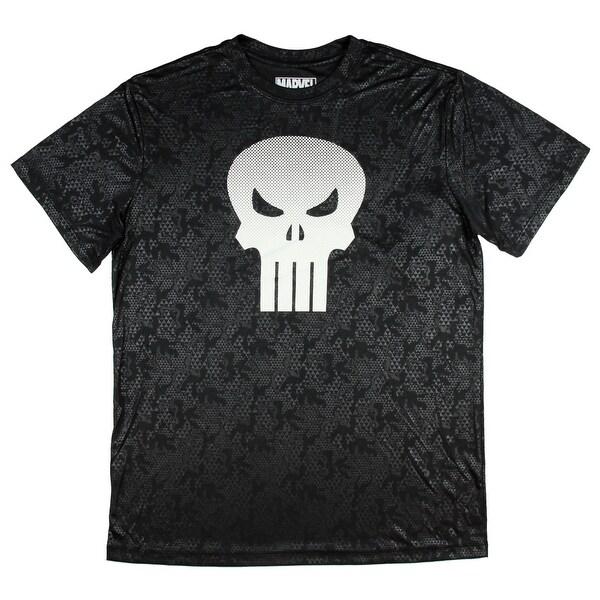 9587ee6a1 Marvel Comics Punisher Skull Logo Active Style Men's T-Shirt