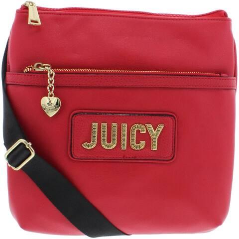 Juicy Couture Blank Check Women's Faux Leather Signature Crossbody Handbag - Medium