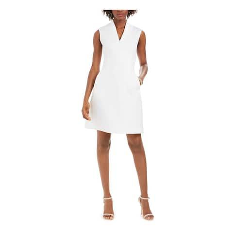 NATORI White Sleeveless Short Dress 16