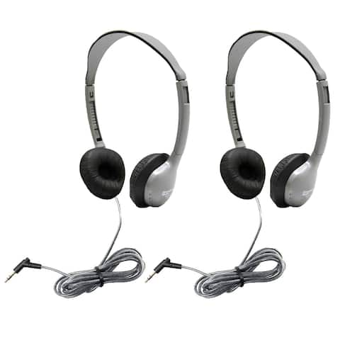 SchoolMate Personal Stereo Headphone w/Leatherette Cushions, Pack of 2