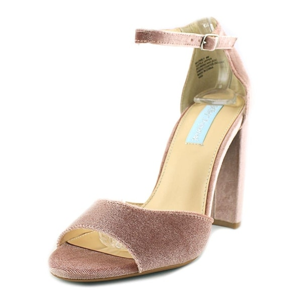 Betsey Johnson Carly Women Open Toe Canvas Nude Sandals
