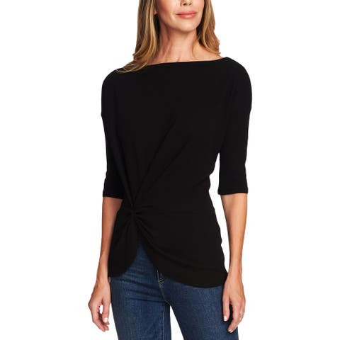 Vince Camuto Womens Blouse Gathered Peplum