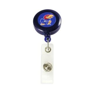 Kansas Jayhawks Retractable Badge Reel Id Ticket Clip NCAA