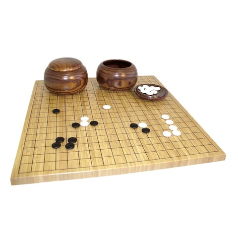 Bamboo Go Set Board Game - 0.75 X 18.5 X 17.5 inches