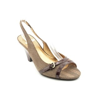Circa Joan & David Nylee2 Women Peep-Toe Canvas Slingback Heel