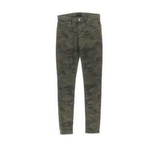 Hudson Womens Lilly Camouflage Mid-Rise Skinny Jeans
