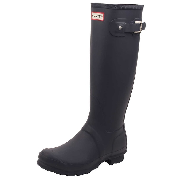 Hunter Womens Original Tall Rain Boots in Navy