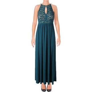 NW Nightway Womens Petites Evening Dress Lace Sequined
