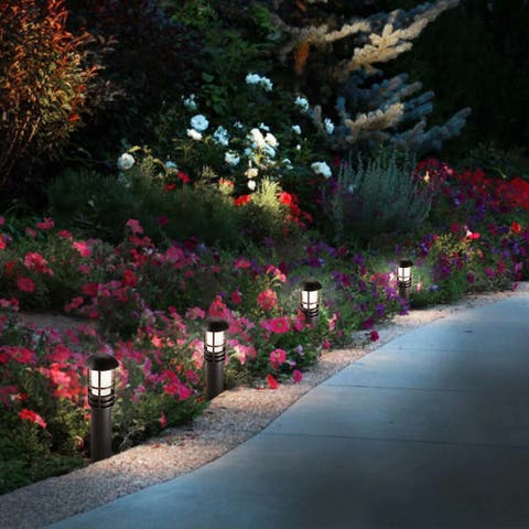 Ornate Low Voltage Hardwired LED Pathway Light, 5000K Daylight, 12 Pack