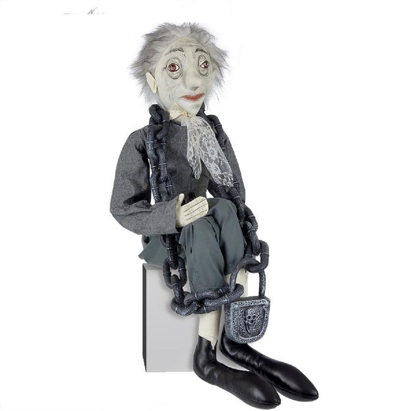 "42"" Gathered Traditions Jacob Marley Decorative Christmas Figure with Dangling Legs"