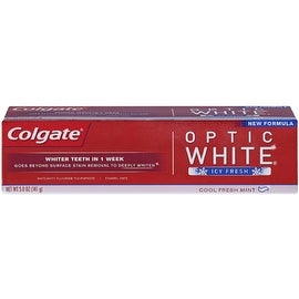 Colgate Optic White Anticavity Fluoride Toothpaste Icy Fresh, 5 oz