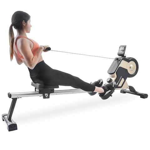 Magnetic Rowing Machine Compact Indoor Rower with Magnetic Tension System