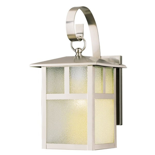 """Westinghouse 6991900 12"""" Tall 1-Light Outdoor Lantern Wall Sconce - Brushed Nickel - N/A"""