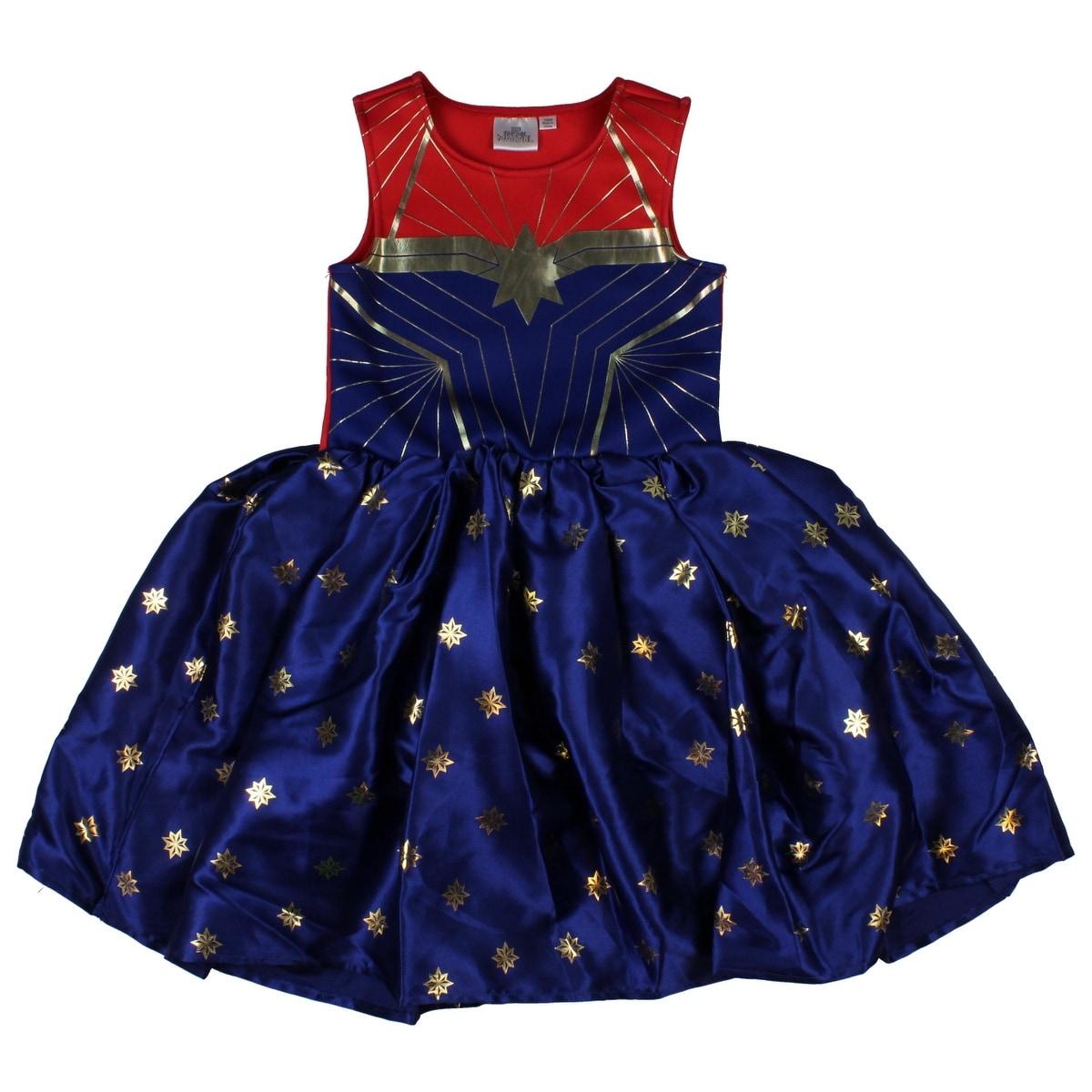 Shop Marvel Captain Marvel Little Girl S Superhero Costume Dress Overstock 31621046 Target/holiday shop/captain marvel costume (3291). overstock com