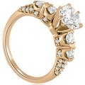 1.73 cttw. 14K Rose Gold Round Cut Diamond Bridal Set - Thumbnail 2