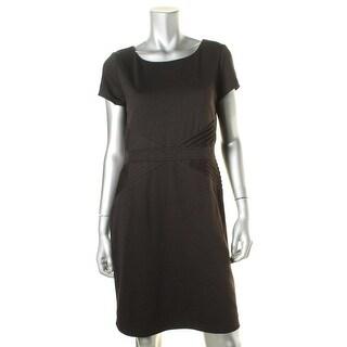 Ellen Tracy Womens Petites Pintuck Short Sleeves Wear to Work Dress - 12P