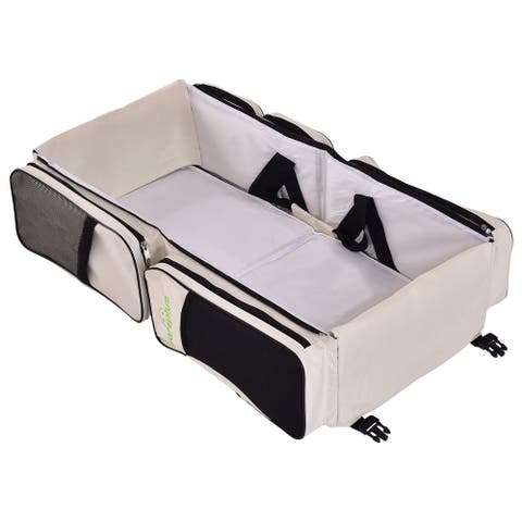 Costway 3 in 1 Portable Infant Baby Bassinet Diaper Bag Changing