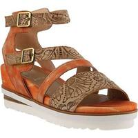 L'Artiste by Spring Step Women's Nolana Strappy Sandal Coral Multi Leather