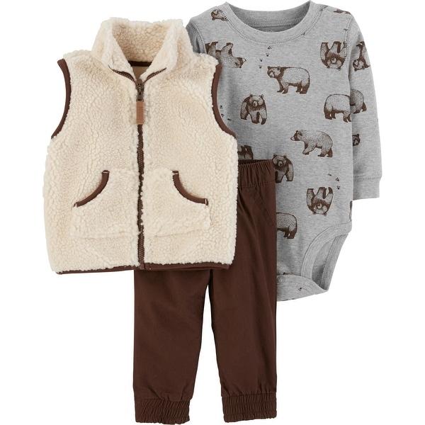 a36de21bc Shop Carter s Baby Boys  3-Piece Sherpa Vest Set