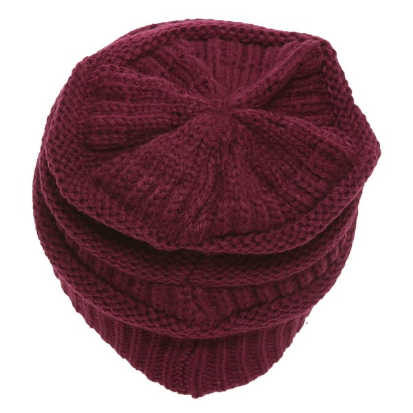 694ba4fc1 Shop C.C Women's Thick Soft Knit Beanie Cap Hat - Free Shipping On ...