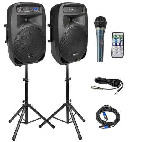 Knox Gear Active Loudspeaker Combo Set with USB and Bluetooth