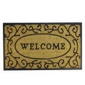 "Decorative ""Welcome"" Rubber and Coir Outdoor Rectangular Door Mat 29.5"" x 18"" - Thumbnail 0"