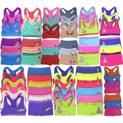 (12-Pieces) Mystery Girls Racerback Cami Top & Bottom Sets