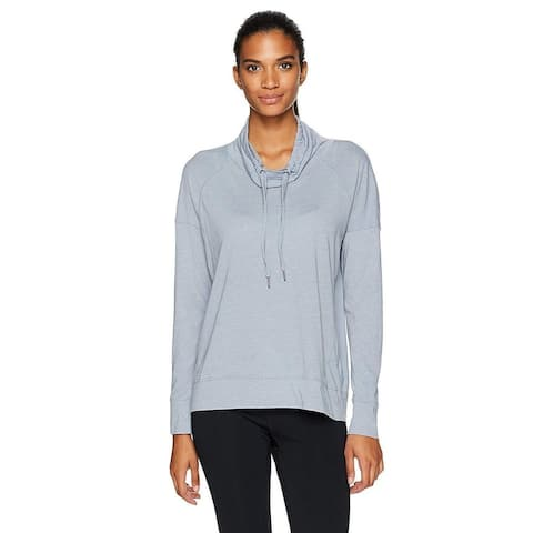 Calvin Klein Women's Cowl-Neck Top Smoke Size 2 Extra Large - Blue - XX-Large