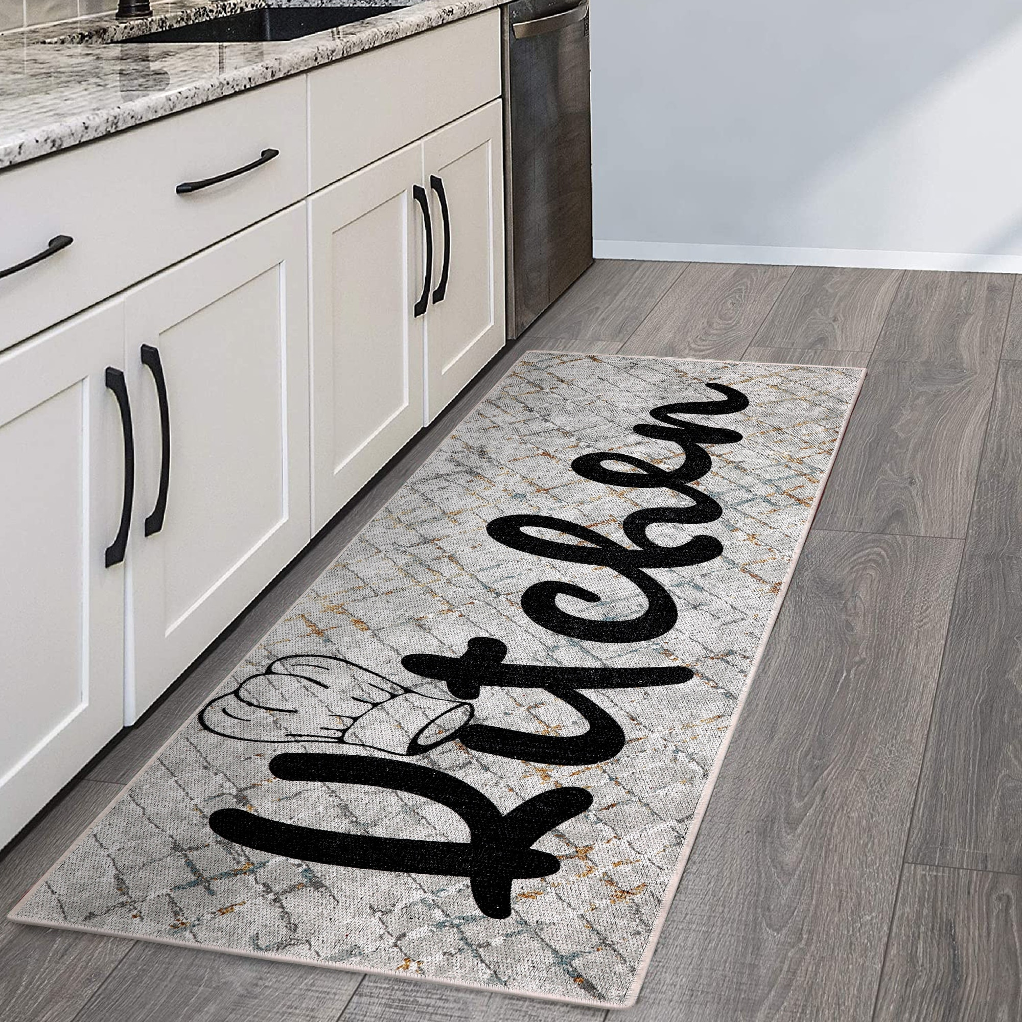 SussexHome Non Skid Washable Ultra Thin Cotton Kitchen Runner Rug ...