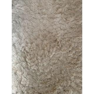 Safavieh Handmade Silken Glam Paris Shag Ivory Rug - 8' x 10' - 8' x 10'