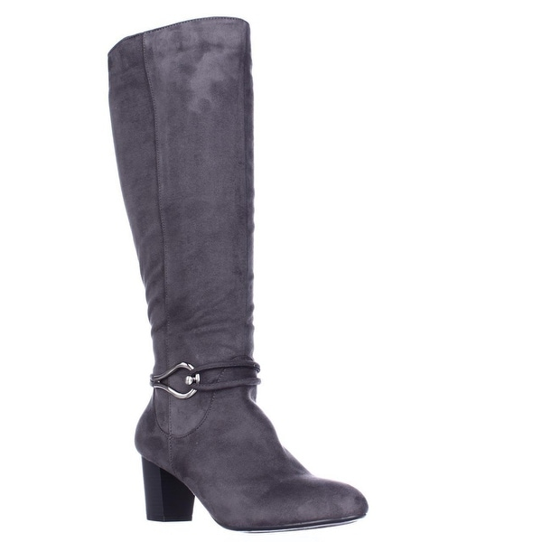 KS35 Gaffar Knee High Dress Boots, Grey - 8 us