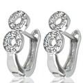 Sterling Silver Figure 8 Cubic Zirconia Earrings - Thumbnail 0