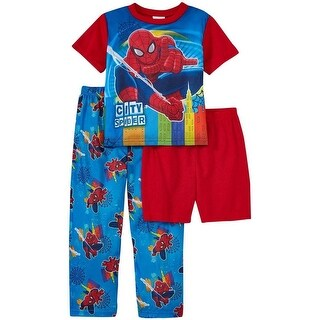 Marvel Boys 2T-4T The Ultimate Spider-Man 3-Piece Pajama Set - Multi