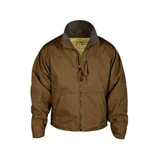 StS Ranchwear Western Jacket Mens Leather Bridger Mushroom