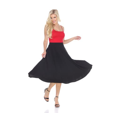 Midi Skirt With Pockets - Black