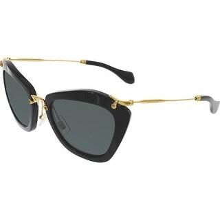 Miu Women's MU10NS-1AB1A1-55 Black Butterfly Sunglasses