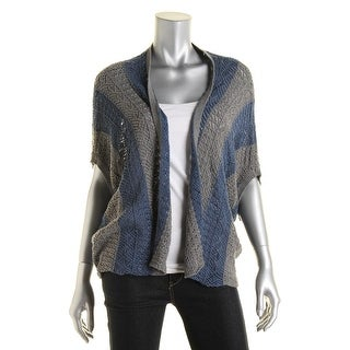 Roxy Womens Juniors Open Stitch Raglan Sleeves Cardigan Sweater - M