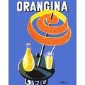 ''Orangina'' by Bernard Villemot Vintage Advertising Art Print (20 x 16 in.) - Thumbnail 0