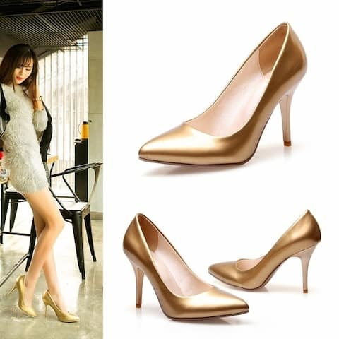 Women Shoes High Heel Ladies Sexy Party Wedding Leather Shoes Woman