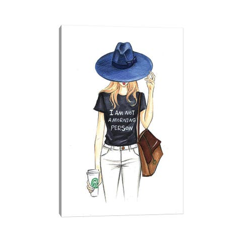 """iCanvas """"I Am Not A Morning Person"""" by Rongrong DeVoe Canvas Print"""
