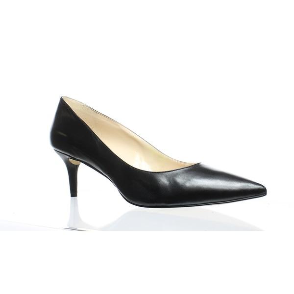 49a2d5c88 Shop Nine West Womens Margot Black Leather Pumps Size 13 - Free ...