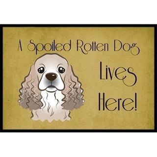 Carolines Treasures BB1464JMAT Cocker Spaniel Spoiled Dog Lives Here Indoor & Outdoor Mat 24 x 36 in.
