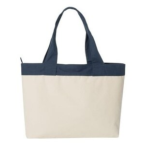 HYP 15.3L Zippered Tote - Natural/ Navy - One Size