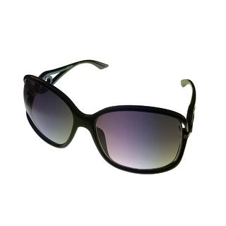 Kenneth Cole Reaction Womens Plastic Sunglass Black / Gradient Lens KC1232 1B - Medium