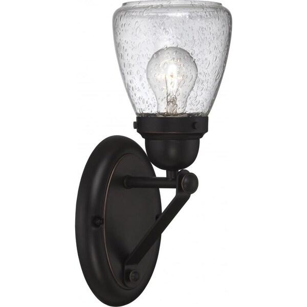 "Nuvo Lighting 60/5541 Laurel 1-Light 5-1/4"" Wide Bathroom Sconce with Seedy Glass Shade - sudbury bronze"