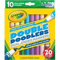 Crayola Dual-Ended Washable Double Doodlers Markers-10/Pkg