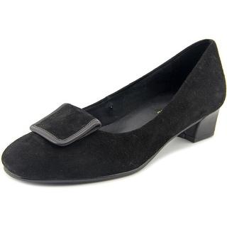 David Tate Ariana Women W Round Toe Suede Black Loafer